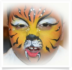 MK Happy Faces Face Painting - Tiger Face